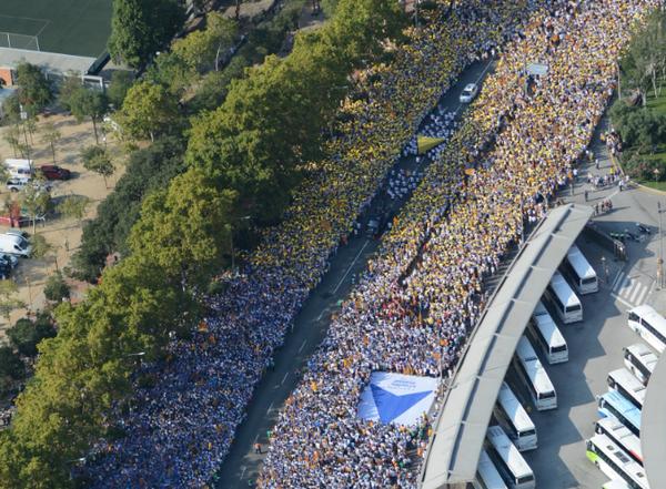 Arranca el puntero de Vía de Libertad con olas de víctimas del separatismo catalán...