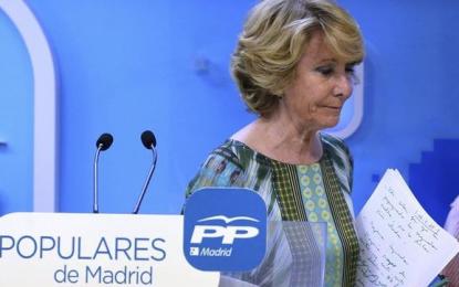 Aguirre acusa a Rajoy de «dejación del Estado en Cataluña» ante el desafío separatista