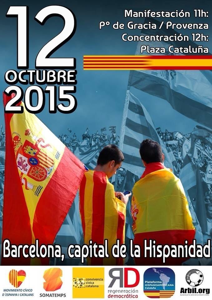 España y Catalanes pide una movilización masiva el 12-O en Barcelona por Unidad de España