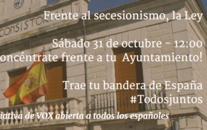 VOX impulsa esta mañana concentraciones para exigir la aplicación de la ley en Cataluña