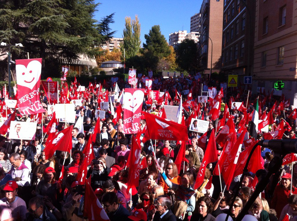 Marcha Vida 2015 en Madrid . Foto Javier Puente . Lasvocesdelpueblo