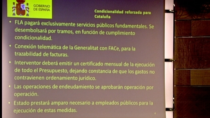 Requisitos adicionales impuestos hoy la gobierno separatista catalanista de Artur Mas por Rajoy. Lasvocesdelpueblo