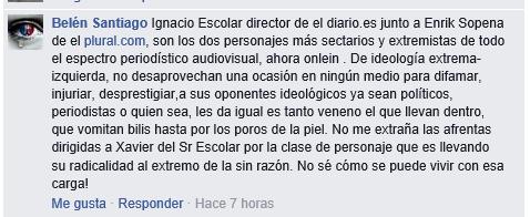 comentario de Belén Santiago en defensa de Xavier García Albiol...