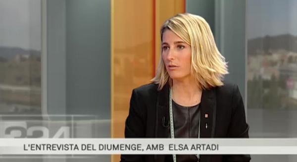 Elsa Artadi, la directora general de Tributos y juegos del gobierno catalán durante la entrevista. lasvocesdelpueblo