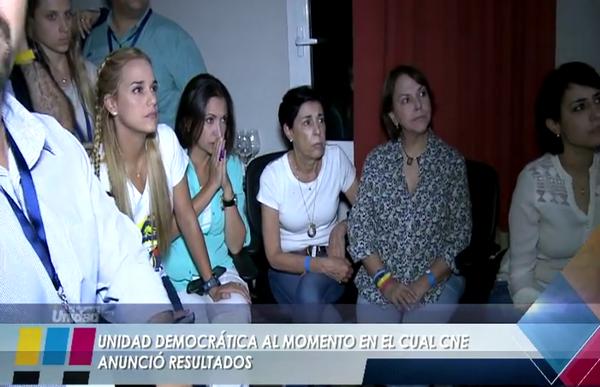 Vídeo: Así han vivido en directo los líderes opositores venezolanos los resultados del cambio