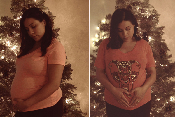 Fotografía de la joven estadounidense, Brittneyrose Torres, embarazada de 17 semanas. Foto The New York Post.