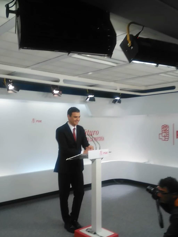 Pedro Sánchez: El PSOE no va a apoyar a Rajoy ni al PP