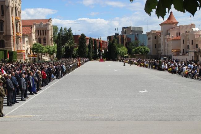 Parada Militar en honor de Inmaculada Concepción en Acuartelamiento El Bruch en Barcelona
