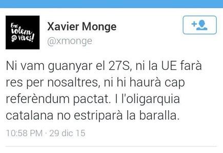 Tweet de Xavier Monge