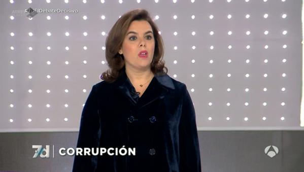 """7 Debates Decisivos a Soraya: ¿Ha habido responsabilidad por el SMS? """"No están en mi partido"""""""