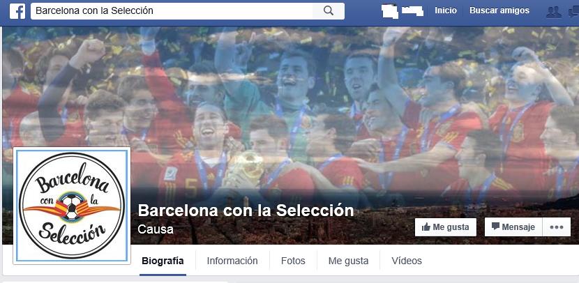Imágenes de la portada Facebook de Movimiento Barcelona Con La Selección. lasvocesdelpueblo.