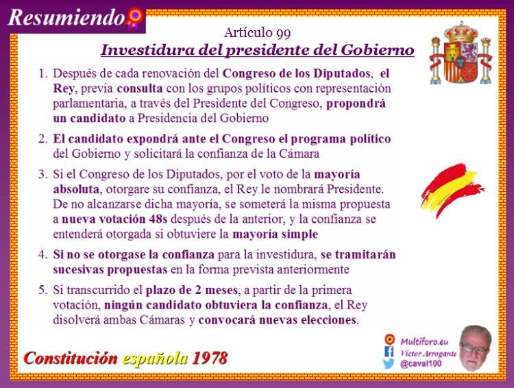Artículo 99 de la Constitución Española