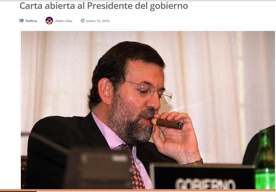 Díaz critica duramente a Rajoy en una carta abierta: «¿No le da vergüenza?…romper con España»