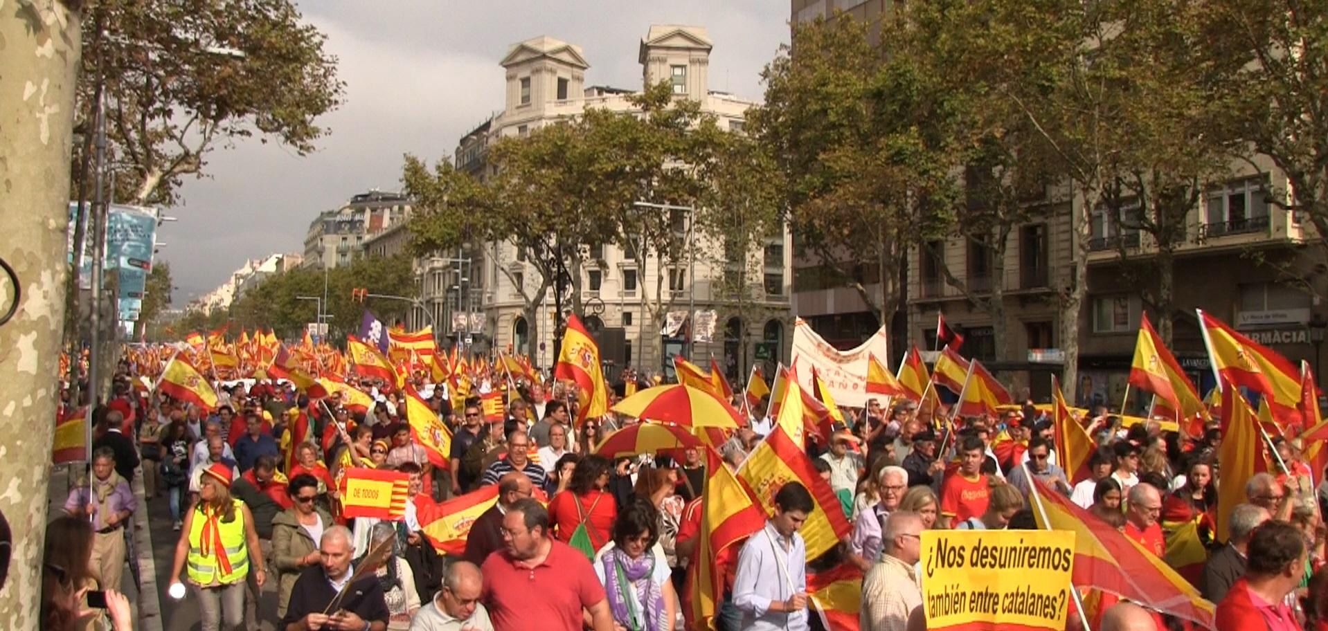 """España y Catalanes """"se suma a la concentración"""" del domingo 31 """"basta proceso"""" separatista"""