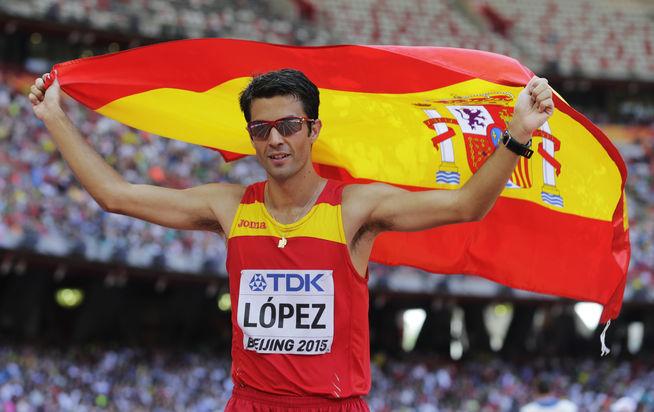 Miguel Ángel López se proclama campeón de España de Marcha en Ruta sobre los 50 kilómetros