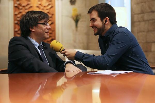 """Puigdemont: Pronto se va a oír en la radio """"la proclamación de la independencia de Cataluña"""""""