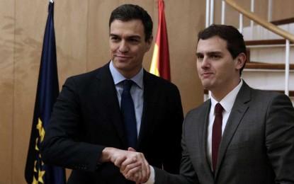 Albert Rivera y Pedro Sánchez sellarán el acuerdo de Gobierno en la sala Constitucional del Congreso