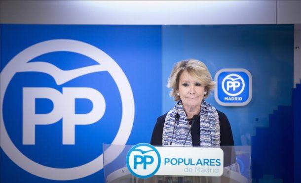"""Esperanza Aguirre, autora de la financiación """"ilegal del PP Madrid, lo supervisaba todo"""""""