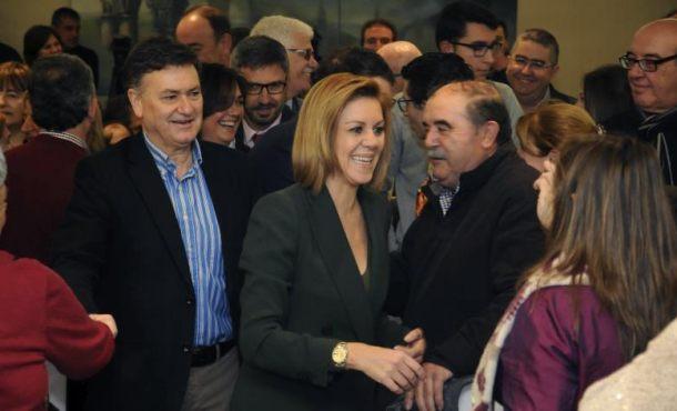 """Cospedal: """"Queremos gobernar"""" España con """"Mariano Rajoy"""" y con """"un acuerdo con PSOE y C's"""""""