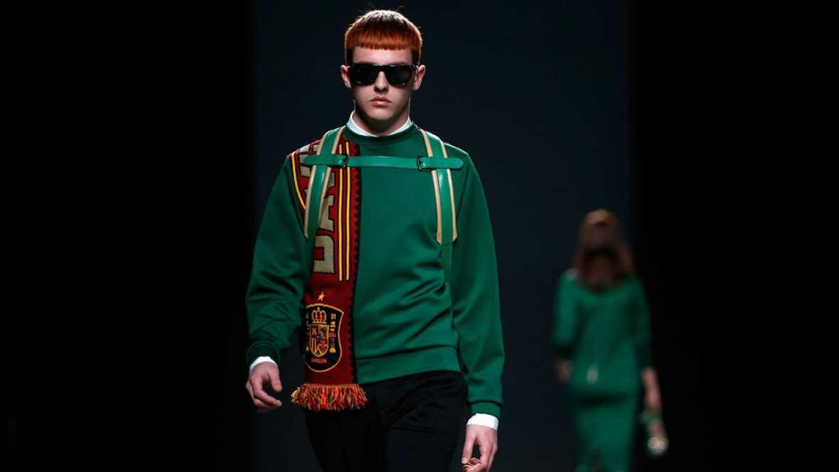 Las bufandas de los hinchas son el eje de la propuesta de David Delfín