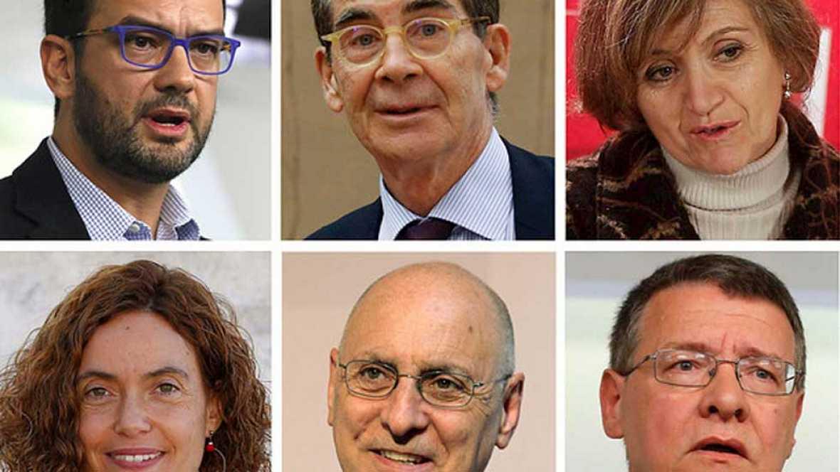 Equipos negociadores de PSOE, Podemos y Ciudadanos para formar el futuro Gobierno de España