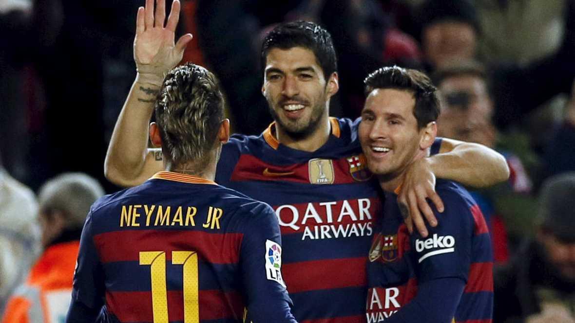 Exhibición del FC Barcelona en el Campo Nuevo camino de la final de la Copa del Rey (7-0)