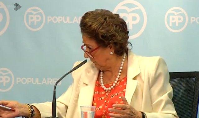 """Rita Barberá: """"Todo lo que se ha dicho hasta ahora"""" sobre """"Caja B"""" del PP """"es absolutamente falso"""""""