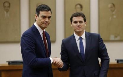 Sánchez y Rivera ratifican su acuerdo contra cualquier intento de Referéndum en Cataluña: Base de la negociación