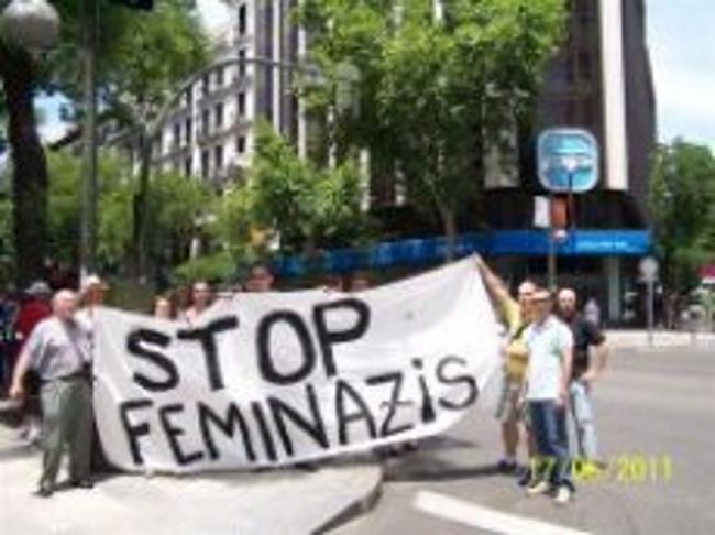 Mienbros del colectivo Projusticia durante una manifestación en Madrid. Archivo Lasvocesdelpueblo
