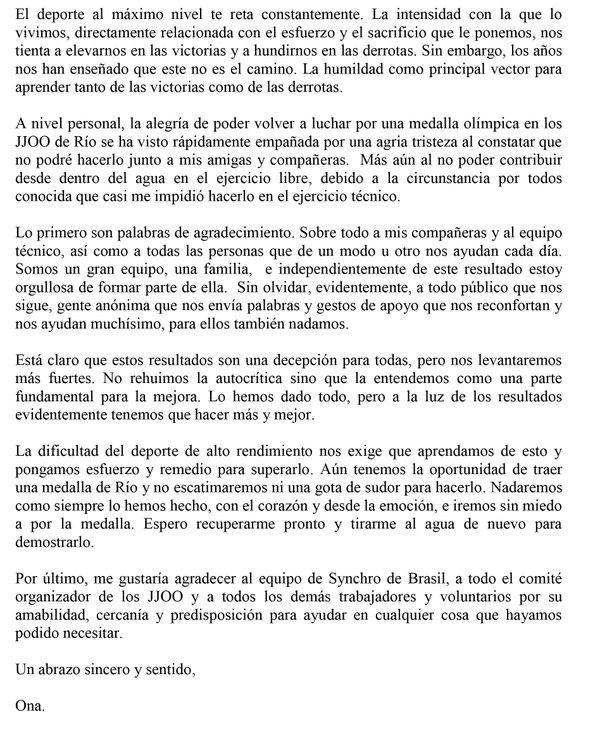 Ona Carbonell- 'El deporte al máximo nivel te reta constantemente'