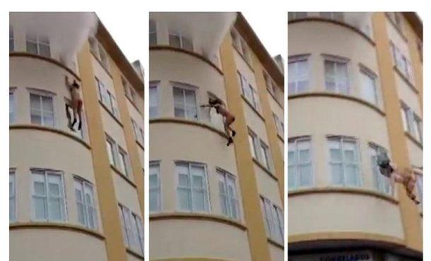 Vídeo: Atemorizada por las llamas ella de 47 años se lanza por la ventana en Cedeira (La Coruña)