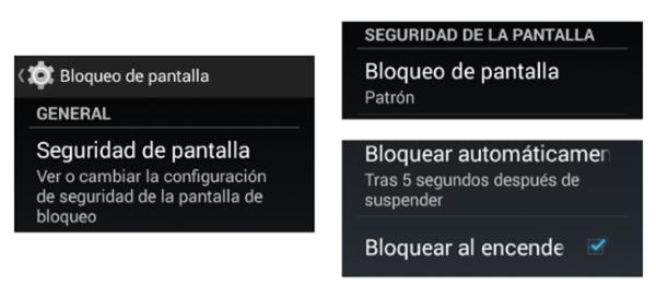 Configuración del sistema en un android, smartphone, paso dos