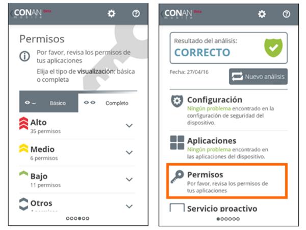 Gestión de los Permisos de las aplicaciones en Android, smartphones