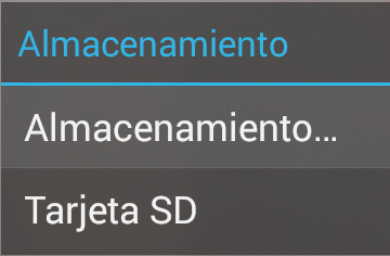 configuración de aplicaciones en un smartphone android