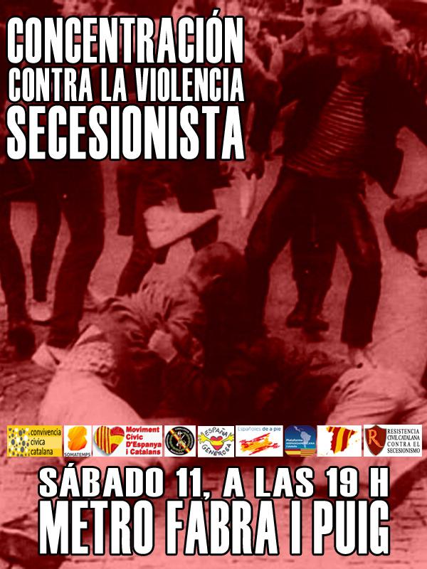 Cartel de la convocatoria del acto de desagravio a las dos catalanas agredidas el pasado sábado 4 de junio 2016 en Barcelona