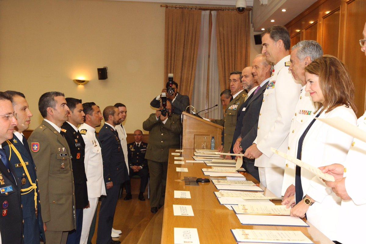 Clausura del XVII Curso de Estado Mayor de la Escuela Superior de las Fuerzas Armadas. Foto facilitada por la Casa Real. lasvocesdelpueblo