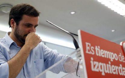 """Garzón:  El PSO€ """"contra los trabajadores"""", """"el golpe oligárquico de Felipe y Susana ha triunfado"""""""