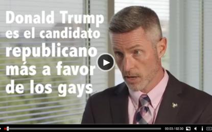 """(Vídeo) Homosexuales estadounidenses piden """"votar al candidato Republicano Donald Trump"""""""