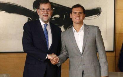 """Albert Rivera mantiene que no apoyará la investidura de Rajoy para un """"Gobierno en minoria"""""""