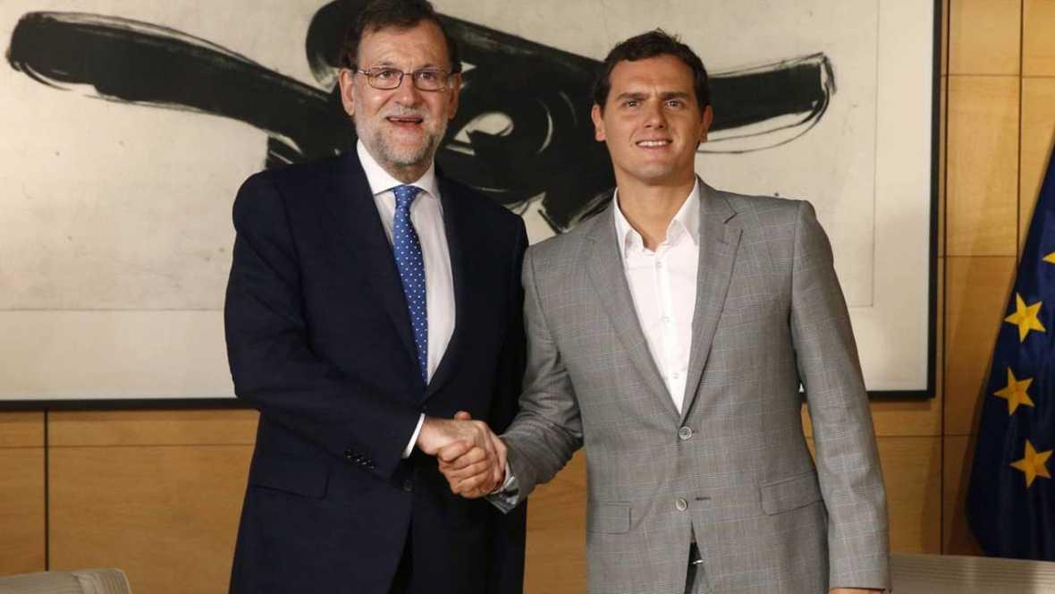 """Rivera traslada su apoyo al Gobierno y le pide """"aplicar la ley y evitar otro 9N en Cataluña"""""""