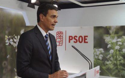 Pedro Sánchez, nuevo líder del PSOE con el 71,4 % escrutado de las primarias de este domingo