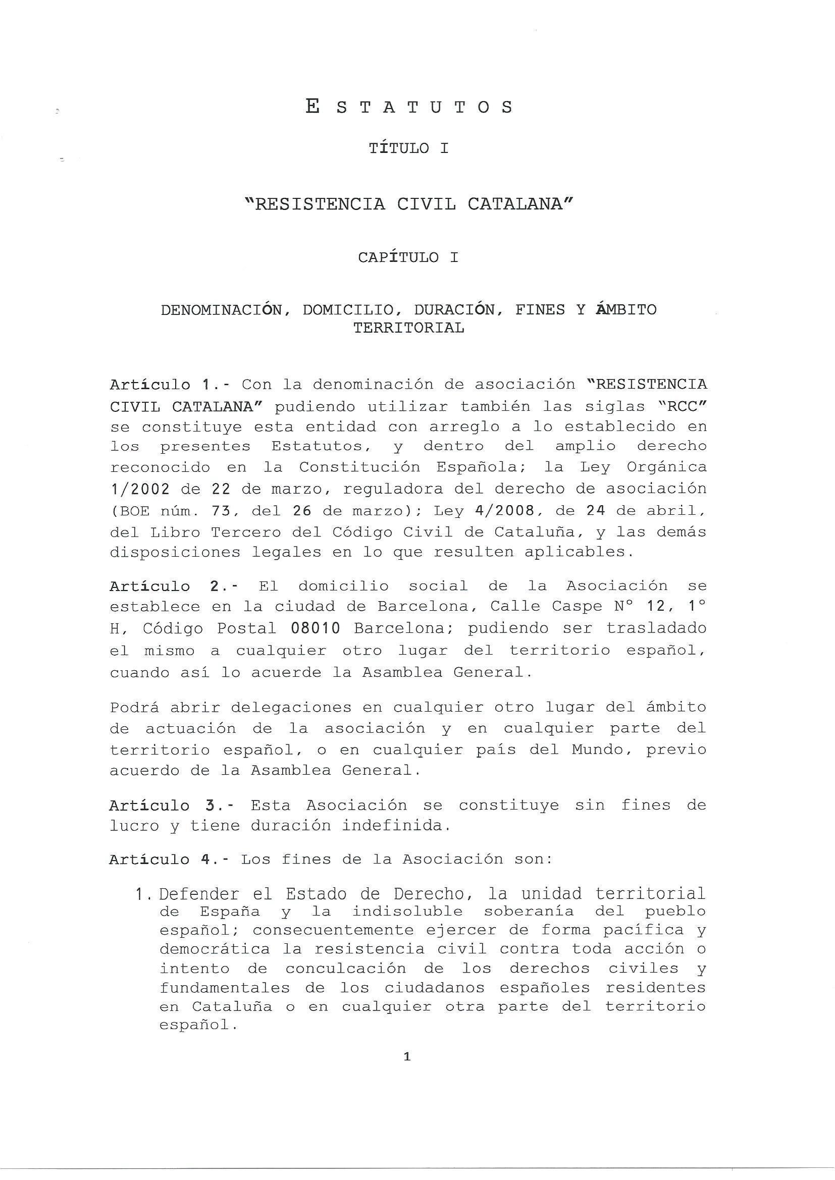 Estatutos RCC 1. lasvocesdelpueblo