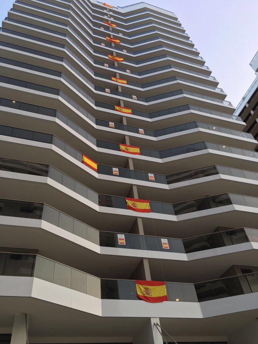 Edificio del equipo donde descansa el equipo olímpico español en Río de Janeiro para los JJ.OO Brasil 2016. @rio2016OndaCero. Lasvocesdelpueblo