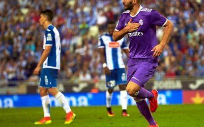 Real Madrid, sin Cristiano ni Bale, acaba con un RCD Español valiente (0-2) en 2 apariciones de James y Benzema