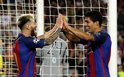 3 goles Messi, 4 asistencias de Neymar y 2 de Luis Suárez para un contundente 7-0 al Celtic Glasgow