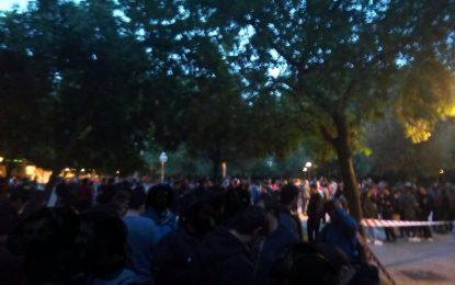 Ataque de más de 200 proetarras al mitin de VOX de Vitoria con Ortega Lara, Abascal y Velasco