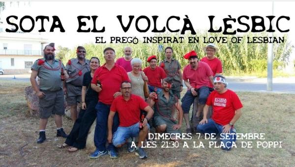 Portada de la representación burlesca de la obra «El Volcán Lésbico». Fotografía facilitada. Lasvocesdelpueblo