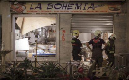 Una deflagración de gas en una cafetería en Málaga deja 77 persona heridas, 4 de ellas graves