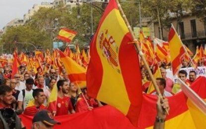 """""""¡Felicidades españoles, felicidades a Cataluña por su orgullo español hoy 12-O en Barcelona!"""""""
