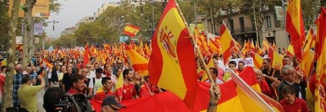 Voces del 12 de octubre en Barcelona